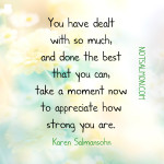 Overwhelmed but Appreciate Yourself